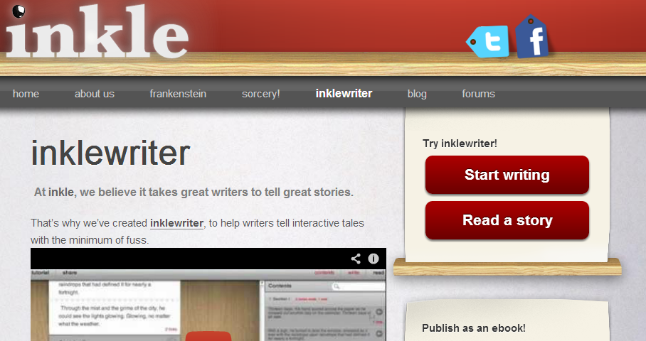 inkle writer online interactive story book creator litology