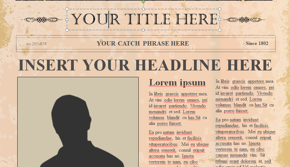 Old fashioned newspaper template for microsoft word leoncapers editable old newspaper template toneelgroepblik Choice Image