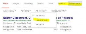 reading level google search